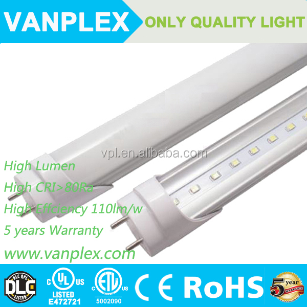 36W high power 120lm/W led tube t8 240cm led lighting with 5 years warranty