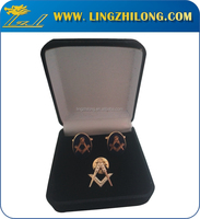 High quality hot sale metal manufacturer Cufflink and tie pin set