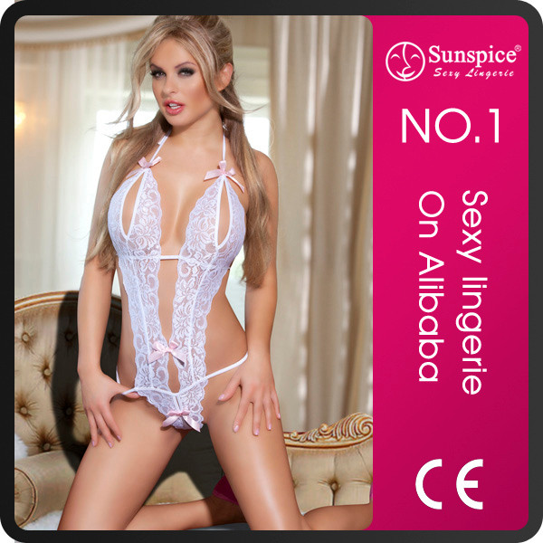 2017 Sunspice lace set halter teddy lingerie sexy