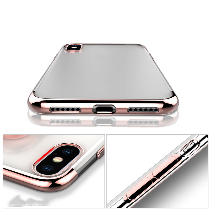 2018 Free Sample Shockproof Case For iPhone 8 ,Transparent Anti-knock Cover For iPhone X Case