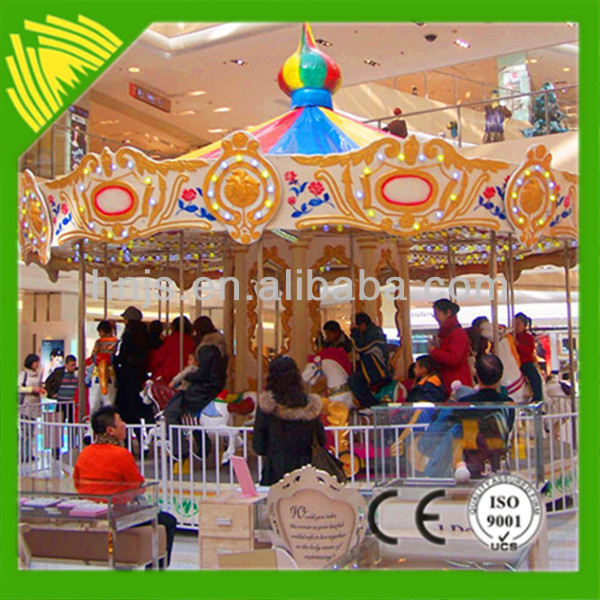 Attractive Children Attraction 16 Seats Carousel Indoor Merry-Go-Round For Sale