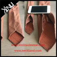 Mens 7 Fold Tie in Silk Wool Blended Handrolled Blades Seven Fold Silk Neckties