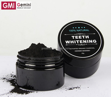 Natural Coconut Charcoal Teeth Whitening Powder Black Color Huaer