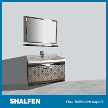 Household stainless steel shoe cabinet with mirror