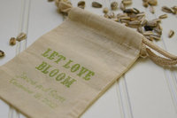 Wedding Favor Bags, Muslin Cotton Bag For Latte, Coffee Seed Bag