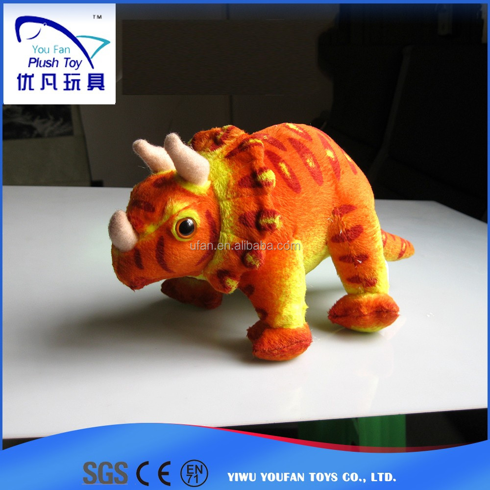 Stuffed dolls kids child toy 100% pp stuffing simulation triceratops dinosaur toys animal baby toy