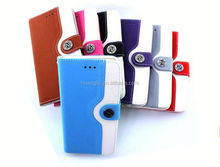 New Model wallet flip leather for motorola x3 leather cell phone case provide sample