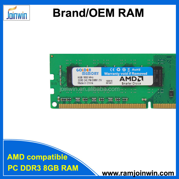 Best price Retail/bulk package and AMD compatible ram memory ddr3 8gb for desktop
