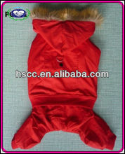 Hot Sale Classic Cotton Material Winter red dog clothing
