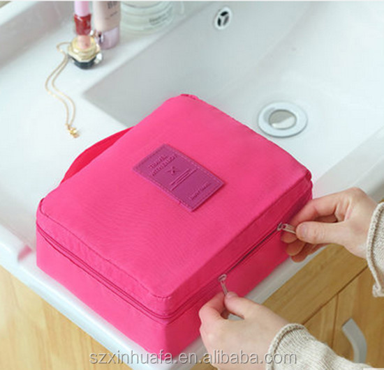 Alibaba China High Quality Cheaper Polyester Folding Cosmetic Bag