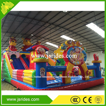 large outdoor bouncy playground inflatable jumping trampoline jumping castle with slide