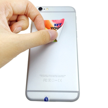 Promotional Gifts Microfiber Screen Cleaner Sticker, sticker mobile screen cleaner, microfiber phone cleaner sticker