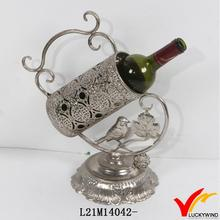 handicraft beautiful metal single wine bottle holder