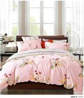 2016 133*72 fashion design 40S satin cotton light pink Bedding set