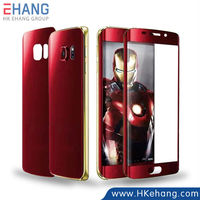 New products full coverage screen protector for Samsung galaxy s6 edge with the avengers' color