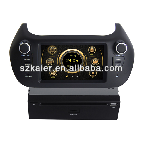 "6.2"" fiat 500 multimedia car dvd player dvd + gps with 6CD Virtual and and Navigation"