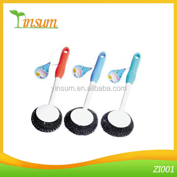 Stainless Steel Plastic Cleaning Pot Brush For Sale