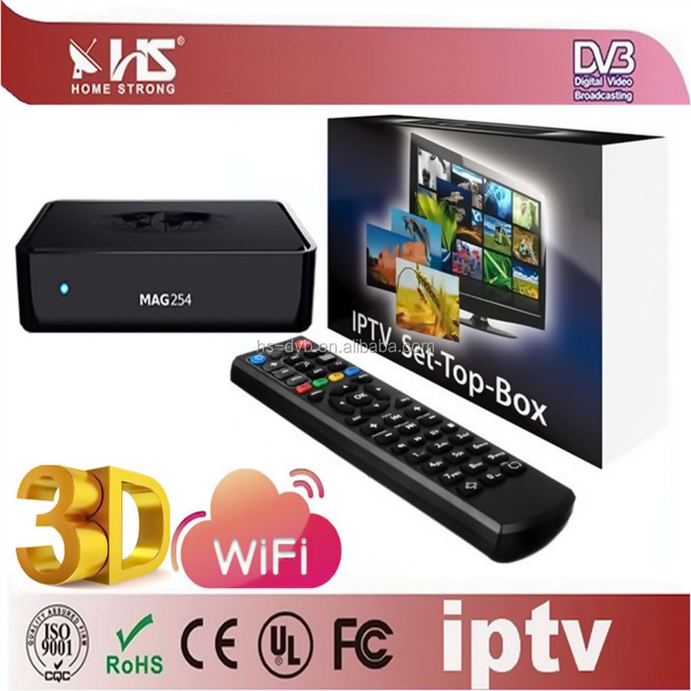 HD direct tv set top box /iptv set top box /home strong IPTV with English channel