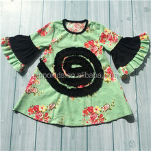 Factory price flare sleeve baby girls dresses party dresses for 8 year old girls flower frock designs girls dresses 2016