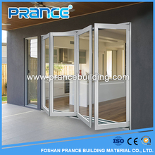 Modern house design aluminum exterior glass folding doors for sale