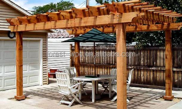 Wpc prefab garage door kits wpc pergola timber size wood for Garage bois kit