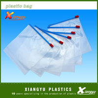 Ldpe printed slider zipper bag/transparent zip lock plastic packing bag for file,garment,scarf/plastic bag