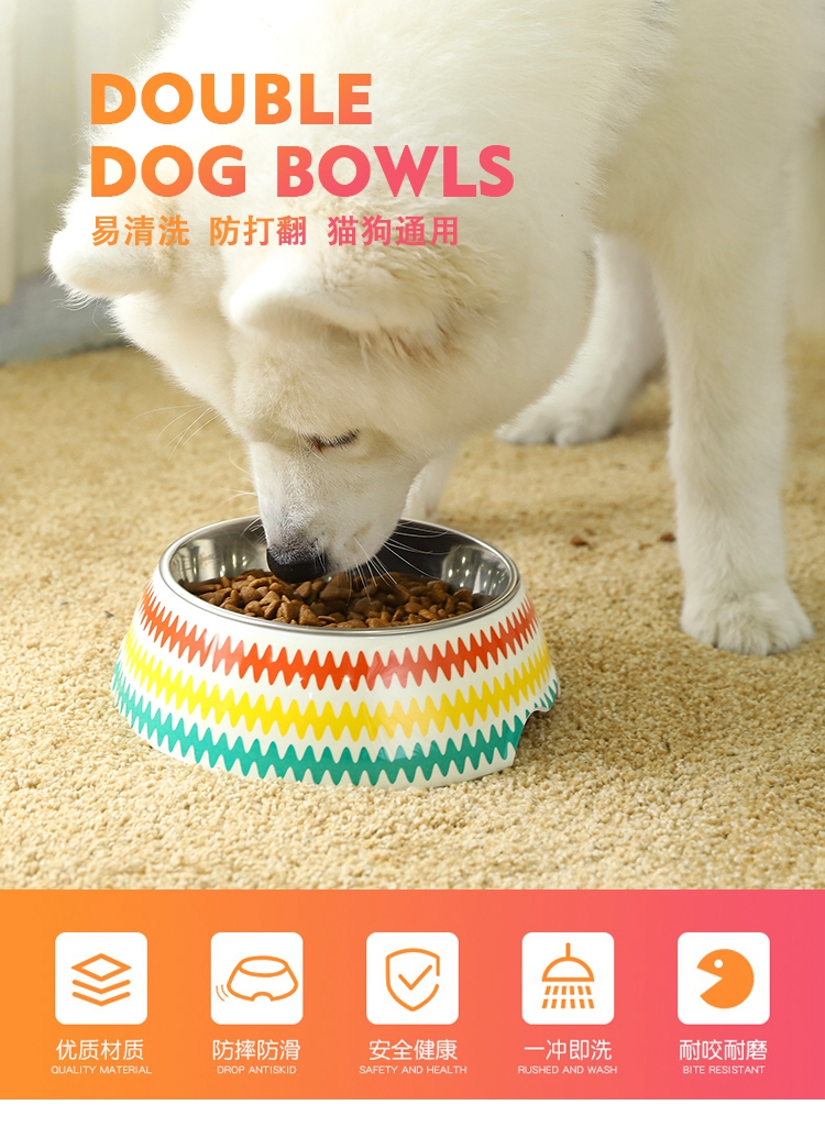 Tianyuan pet wholesale no spill metal dog/cat bowl stainless