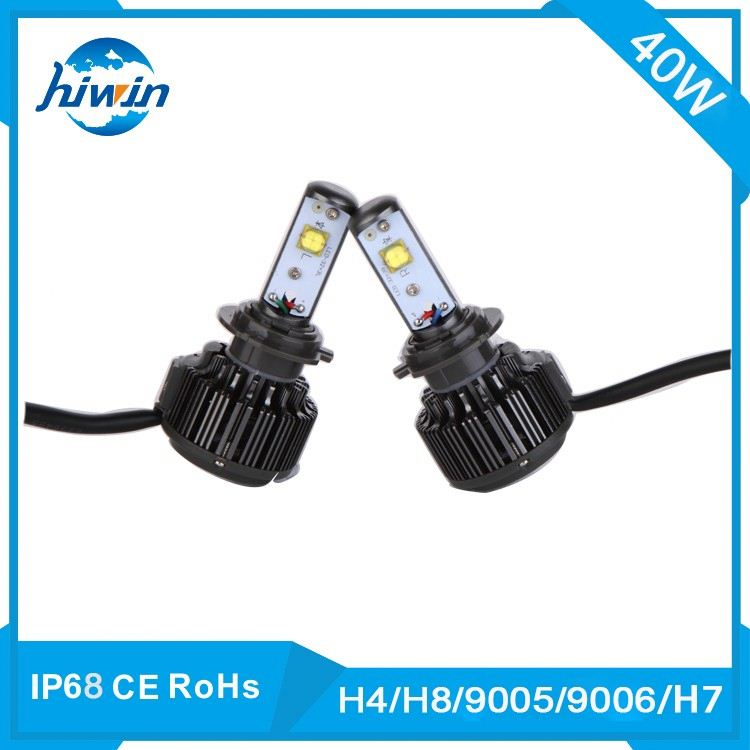 car lights manufacturer 40w led car headlight bulb replacement high/low beam led headlight h4 h/l