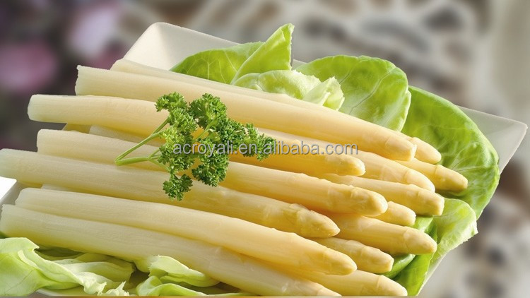 NEW CROP/ Canned White Asparagus Spears in tall glass jars 370ml