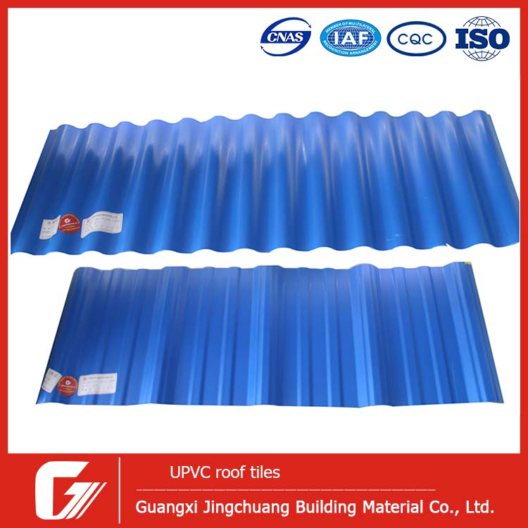 light weight building material ASA 4layers UPVC PVC roofing tile for home,warehouse,factory