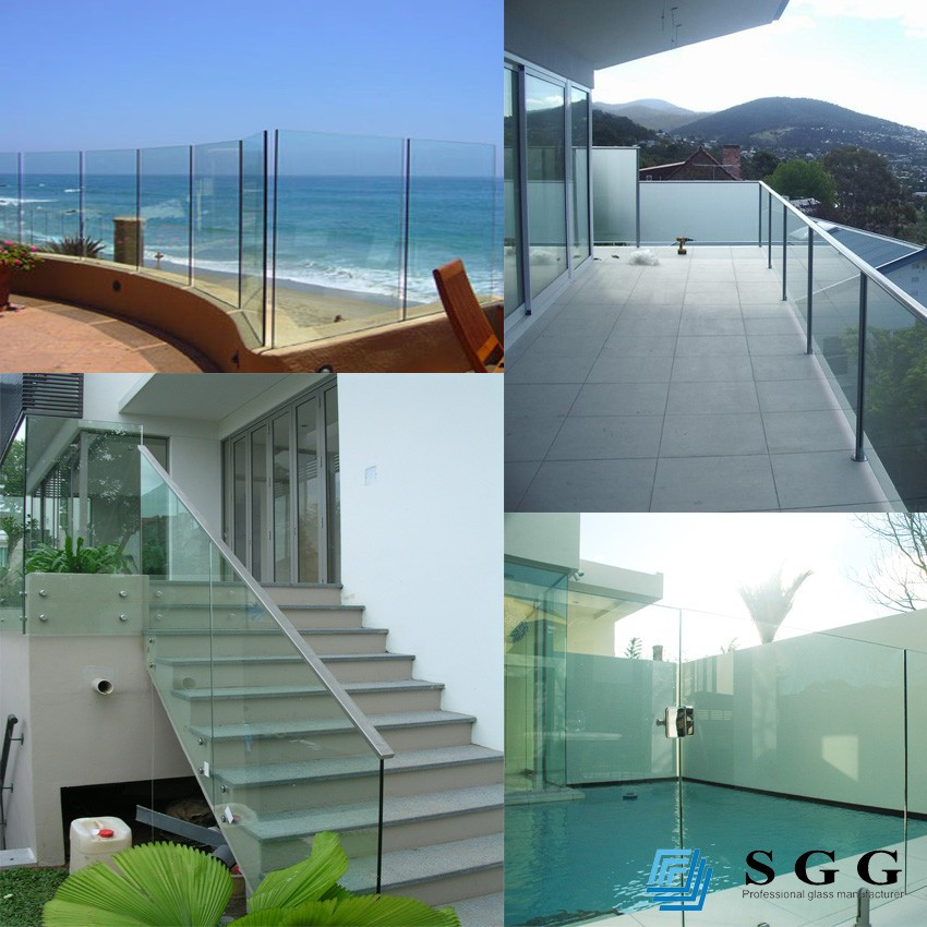 Excellent quality building glass tempered laminated glass fence panels