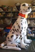 Hot sale giant inflatable spot dog model,inflatable dalmatian for sale