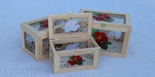 Hand mande/eco-friendly wooden glass box for packing