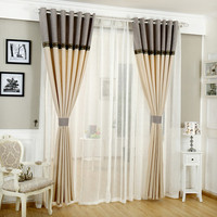 Pleated blinds grommet top living room curtains