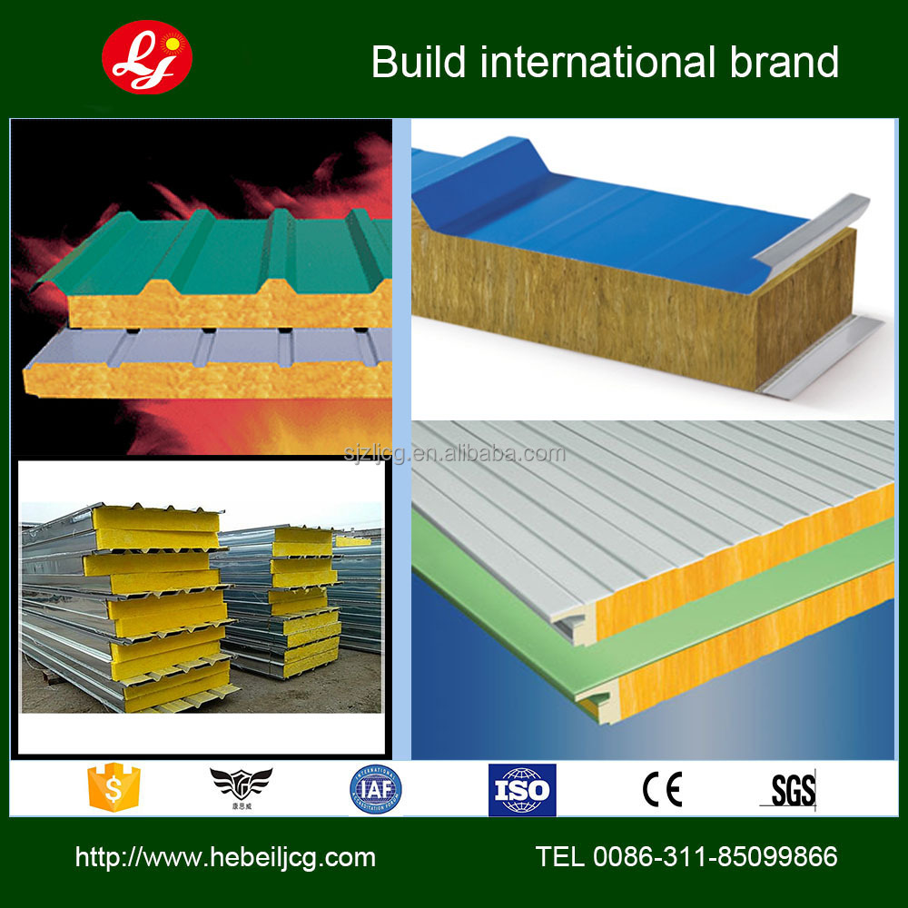 rockwool sandwich panel / panel sandwich / roof sandwich panel
