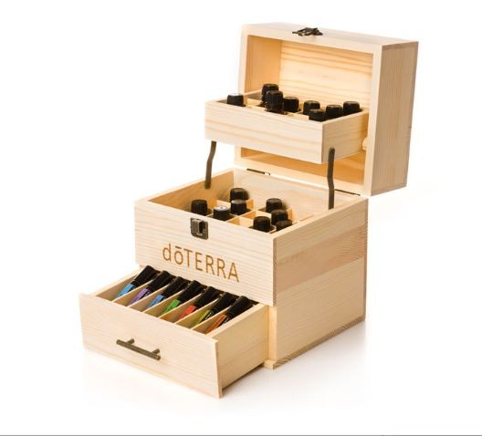 doTERRA 3-layer essential oil wooden packing box with drawer