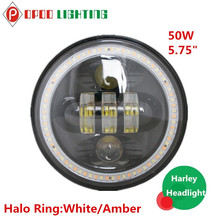 New Product Promotion Hi/Low 4800LM High Power 50W Motorcycle Round Headlight