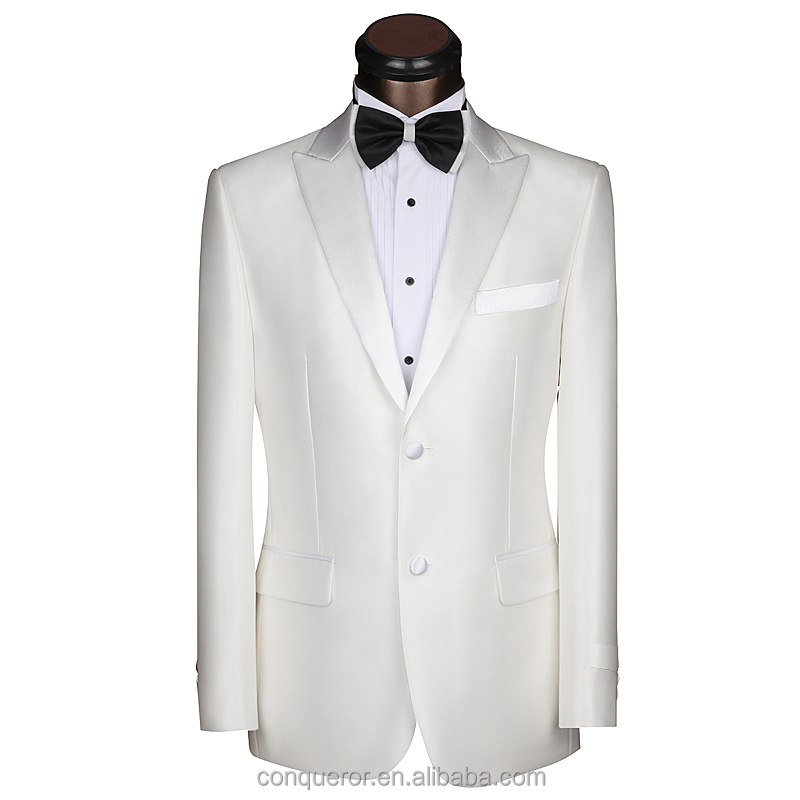 2016 new trendy white wedding suit for man