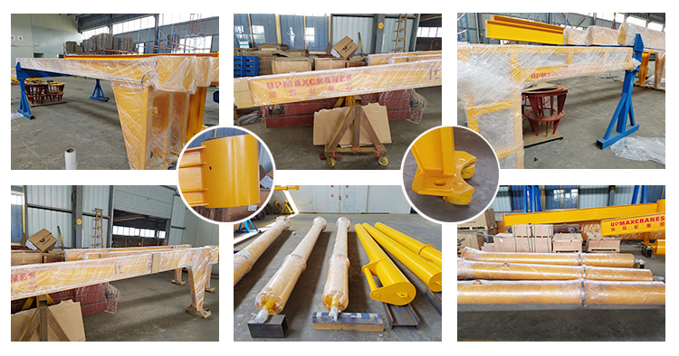Hot sale 500kg 270 Degree Pillar Mounted Slewing Jib crane with Fixed Type Hosists