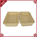 Factory cheap price plastic wicker rattan customized kitchen food storage colorful storage basket
