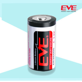 EVE Battery Lithium Primary ER26500 Lisocl2 Bobbin Type Batteries Lithium Thionyl Chloride Battery