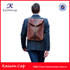 custom high quality design your own logo leather backpack for men