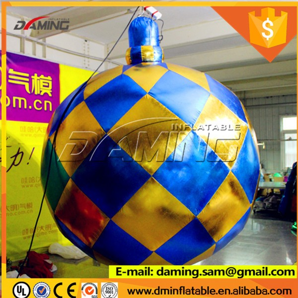 inflatable Snow Balloon with LED lights for Christmas Decoration