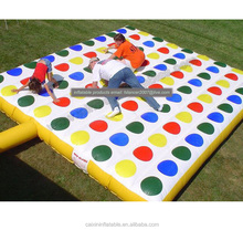 Inflatable Twister Jousting Game , Giant Inflatable Air Twister Game Mat