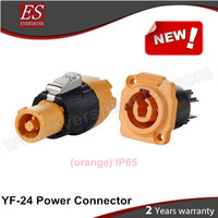 China High Performance YF-24 Battery Power Connector Waterproof IP65 Plug and Socket Orange