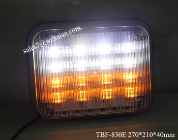 Dual Color LED Warning Light/Bolt Mounted Surface Emergency Light/Amber White led Visor Light TBF-830E