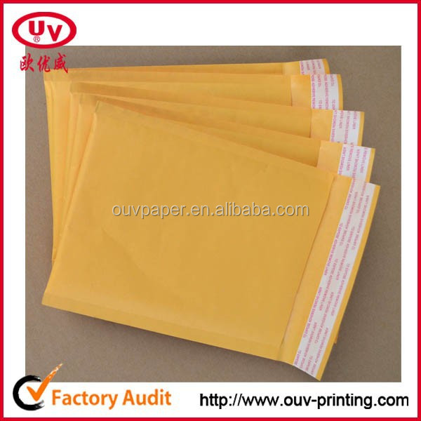 custom printing kraft bubble mailer, poly bubble mailer