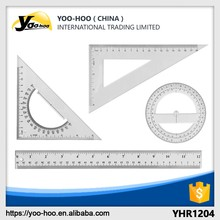 high quality Geometric Ruler set for school and office stationary