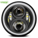 "Bluetooth Control 7Inch Rgb Halo Rings LED Headlight 7"" Led Color Changing Angel Eyes Headlight"