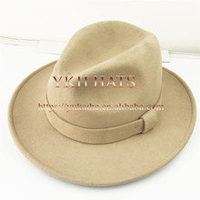 High quality bulk sale custom made 100% wool felt wide brim fedora hat wholesale